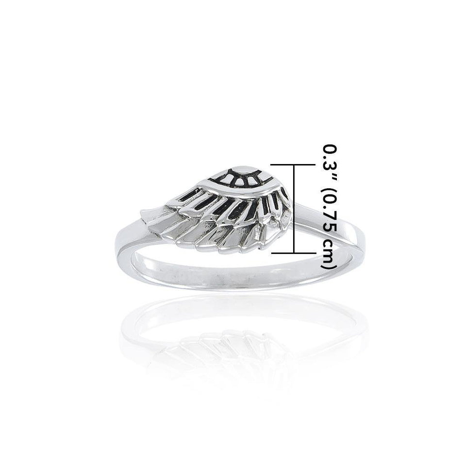 Angel Wing Ring TRI1547 peterstone.