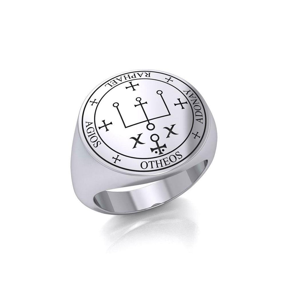 Sigil of the Archangel Raphael Sterling Silver Ring