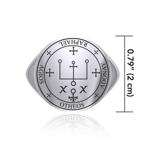 Sigil of the Archangel Raphael Sterling Silver Ring TRI1566 peterstone.