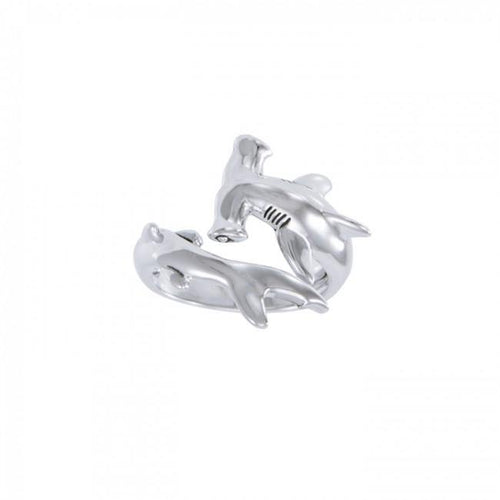 Independently strong hammerhead shark ~ Sterling Silver Jewelry Ring TRI1614 peterstone.