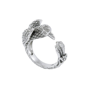 Sterling Silver Raven Ring TRI1638