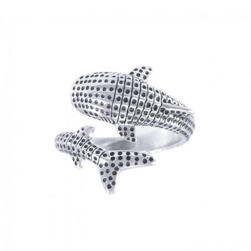 Whale Shark Sterling Silver Ring TRI1652 peterstone.