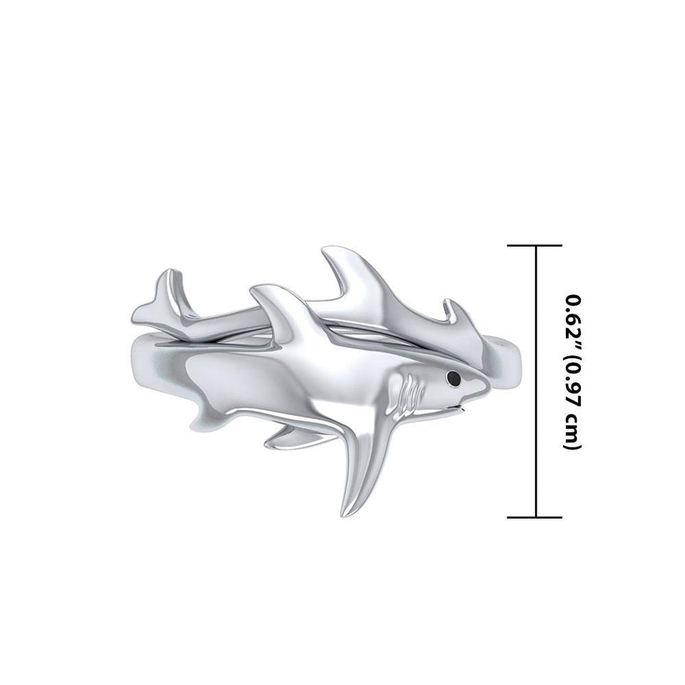 Big Eye Thresher Shark Sterling Silver Ring TRI1712