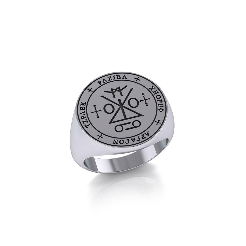 Sigil of the Archangel Raziel Silver Ring