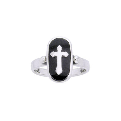 An emblem of your faith and spiritual faith ~ Sterling Silver Jewelry Celtic Cross Ring TRI510 peterstone.