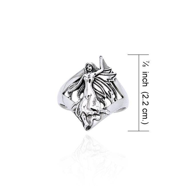 Dance her way to your heart ~ Sterling Silver Jewelry Dancing Fairy Ring TRI522