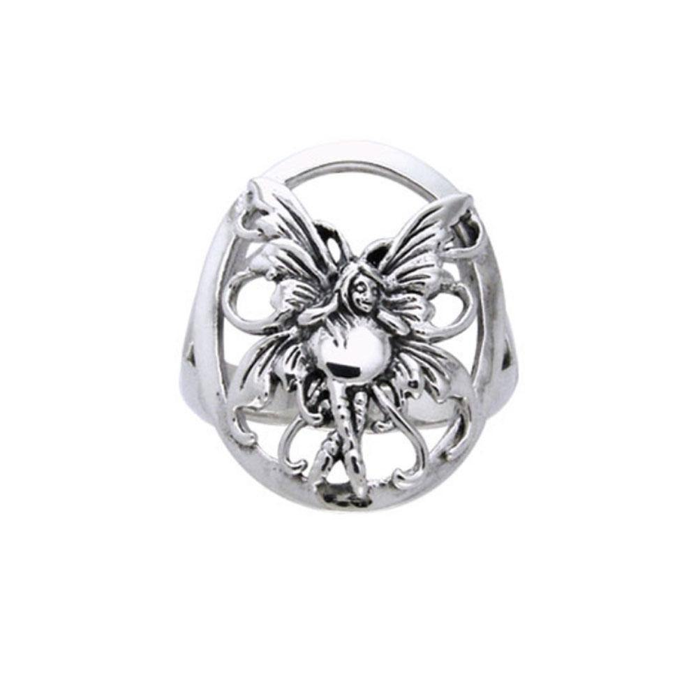Bubble Rider Fairy Silver Ring TRI524