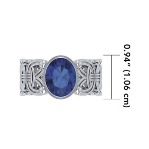 Borre Knot Ring TRI572 peterstone.