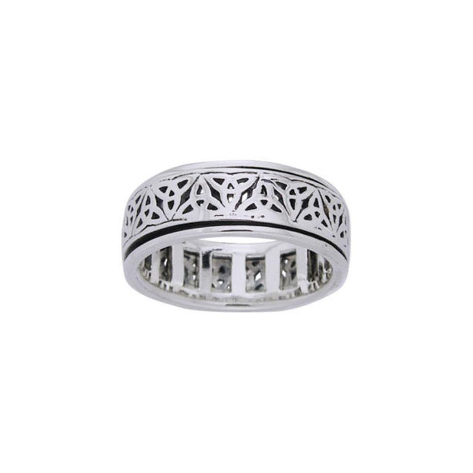 Celtic Triquetra Spinner Ring TRI884 peterstone.