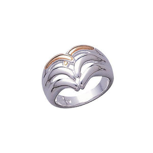 Modern Design Silver and Gold Ring TRV3422 peterstone.