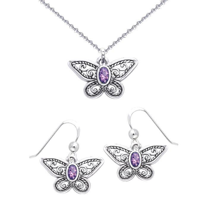 Spread your wings like a butterfly ~ Sterling Silver Jewelry Set TSE570
