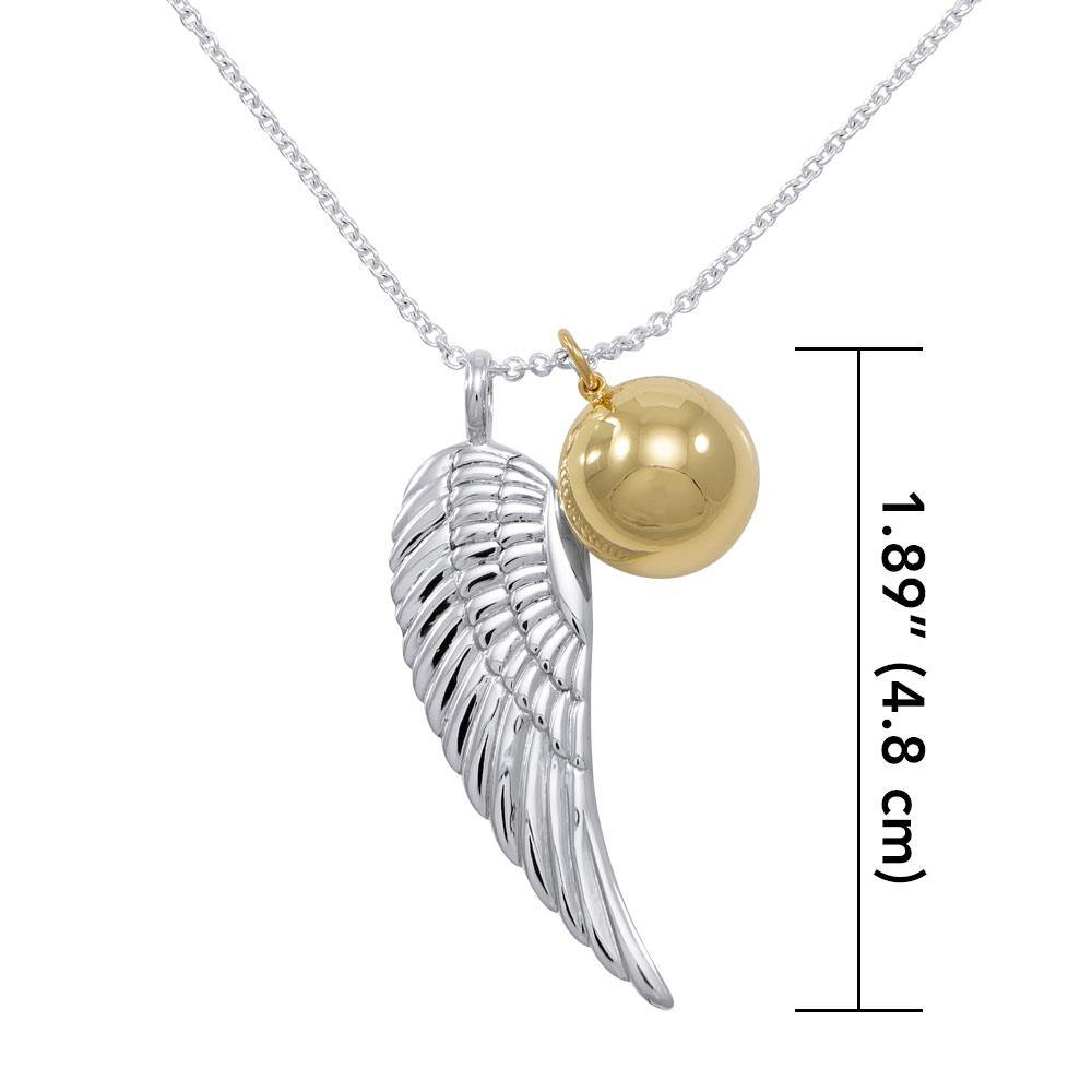 Angels Wing Chime Ball Necklace
