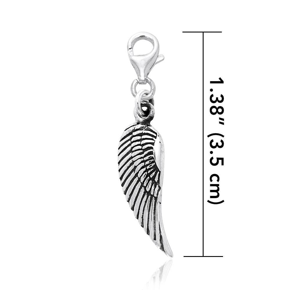 Angel Wing Clip Charm