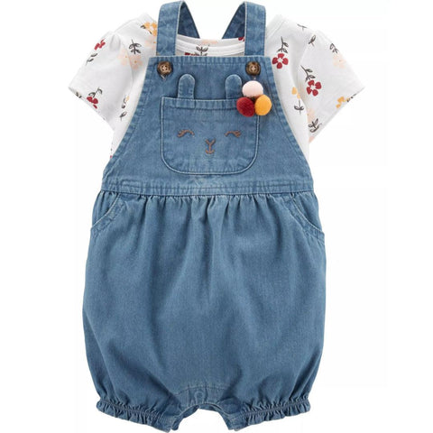 Conjunto Carter's Shortalls Denim