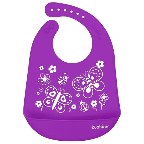 Babador De Silicone Kushies Butterfly Purple