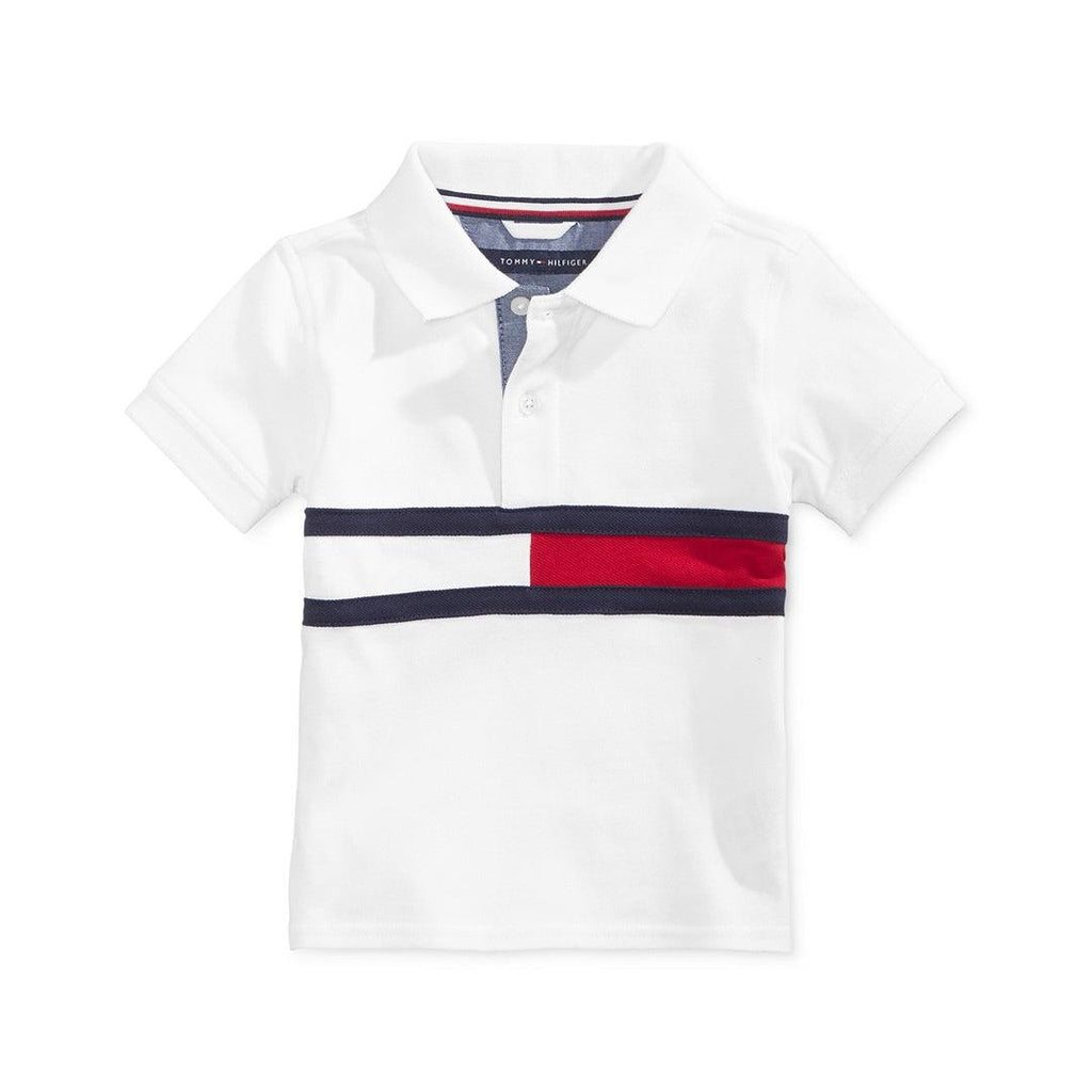 Camisa Polo Tommy Hilfiger White Flag