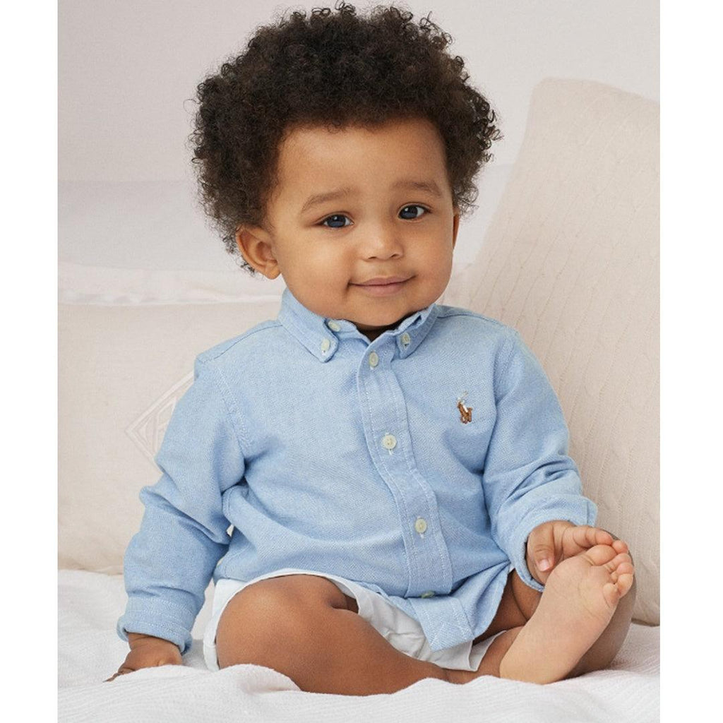 Camisa Polo Ralph Lauren Baby Oxford Blue
