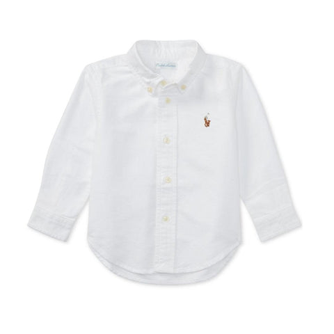 Camisa Polo Ralph Lauren Baby Oxford White