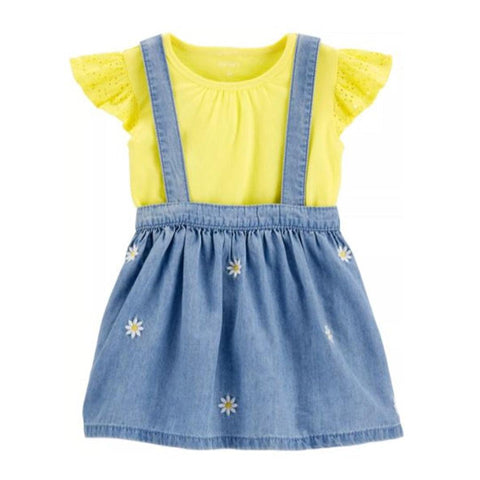 Conjunto Carter's Skirtall Denim And Yellow