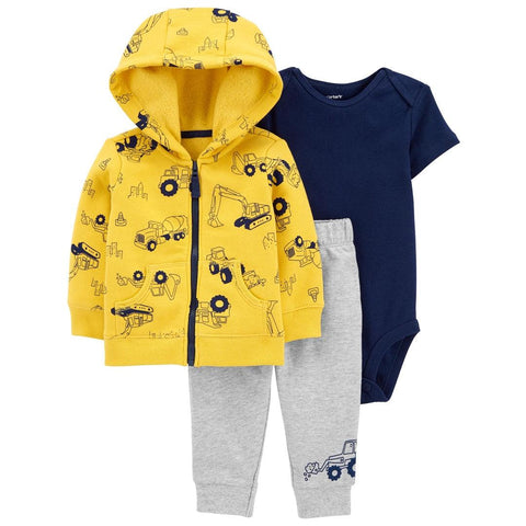 Conjunto Carter's Little Jacket 3 Peças Construction Yellow