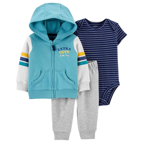 Conjunto Carter's Little Jacket 3 Peças Striped Navy