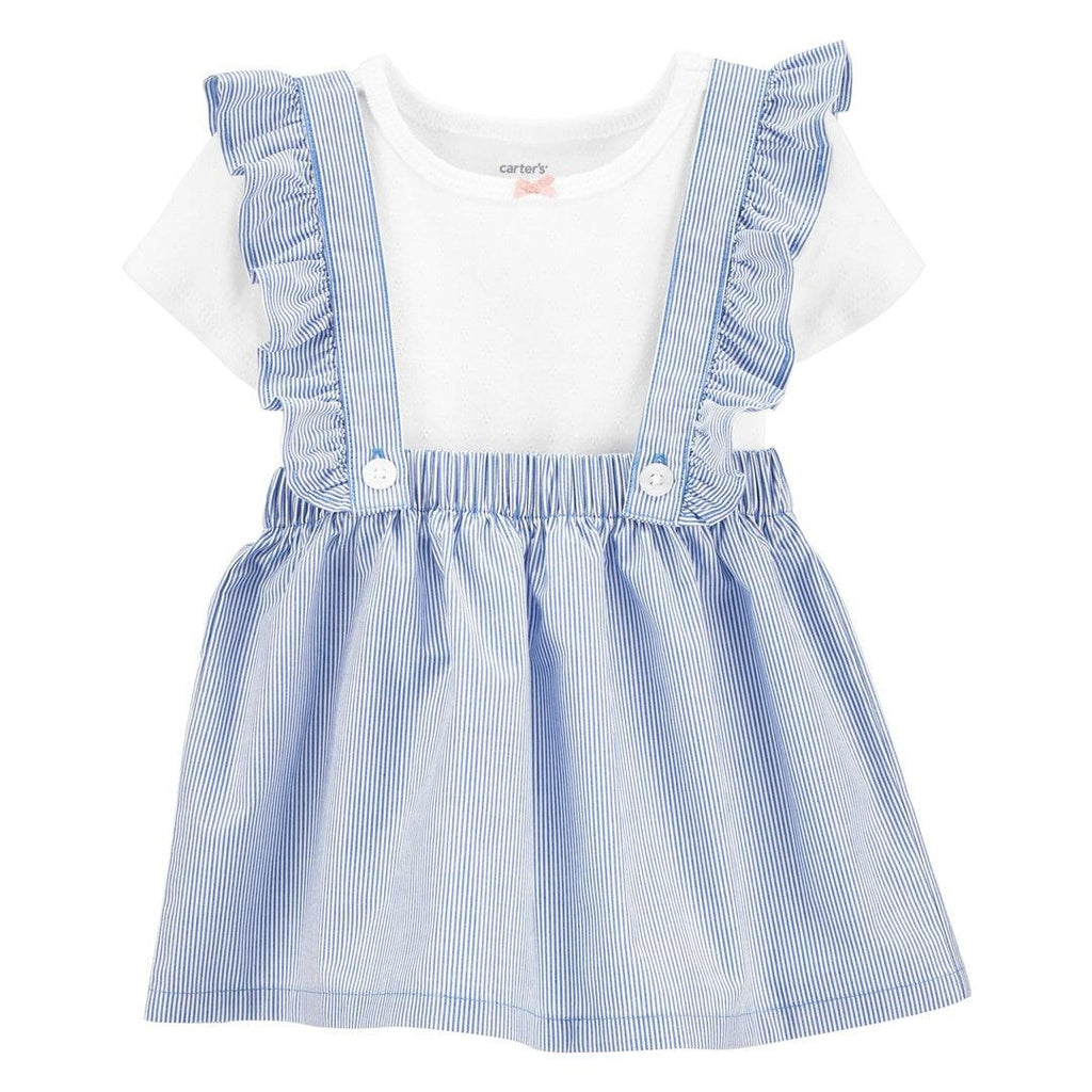 Conjunto Carter's Skirtall Blue And White