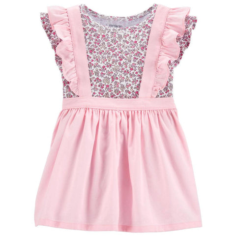 Conjunto Carter's Skirtall Floral Pink