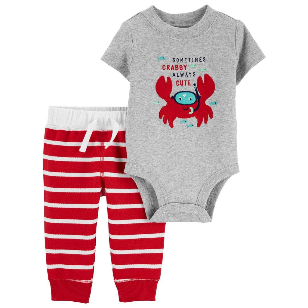 Conjunto Carter's Pant Crabby Cute Red