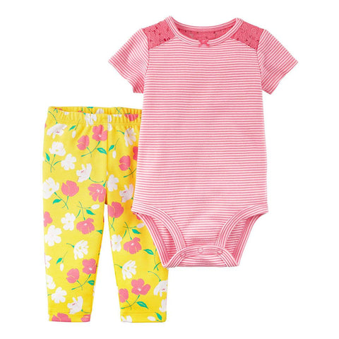 Conjunto Carter's Pant Striped Floral