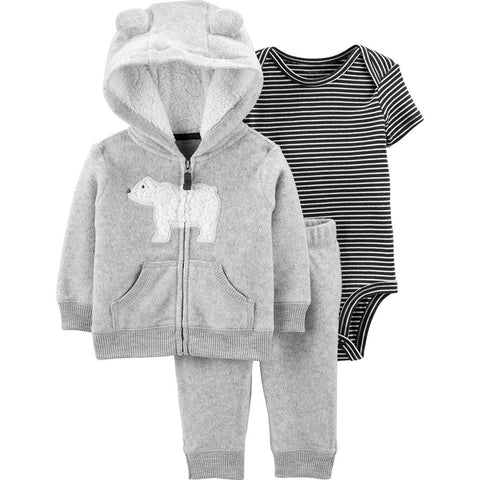 Conjunto Carter's Striped Little Jacket 3 Pecas Bear