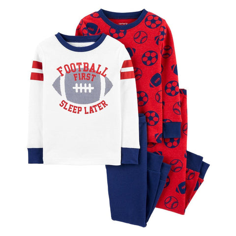 Kit Pijama Carter's 4 Peças Football Red