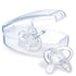 Kit Chupeta Chicco Orthodontic 2 Peças Transparente 16M+