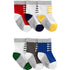 Kit Meia Carter's 6 Pares Sneaker Multi Colors Boy