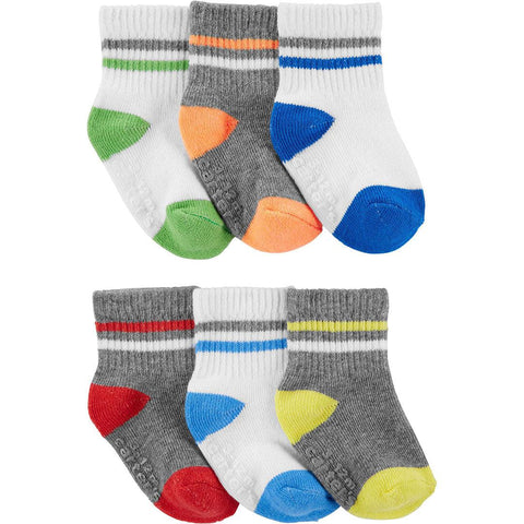 Kit Meia Carter's 6 Pares Multi Colors Boy