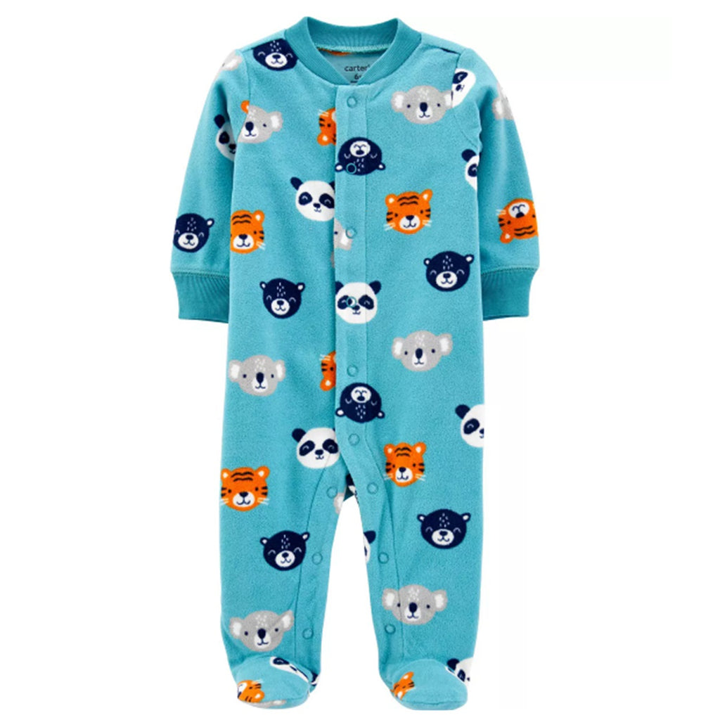 Macacão Carter's Fleece Animals Blue