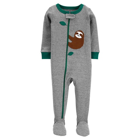 Macacão Carter's Footie Sloth Green