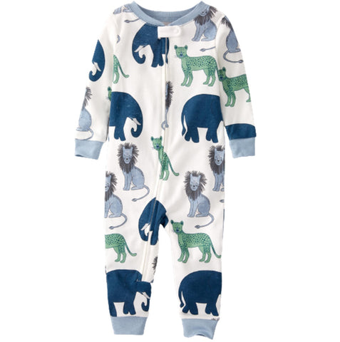Macacão Carter's Footless Organic Cotton Wildlife