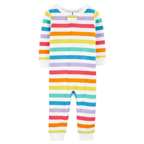 Macacão Carter's Pjs Footless Rainbow Stripes