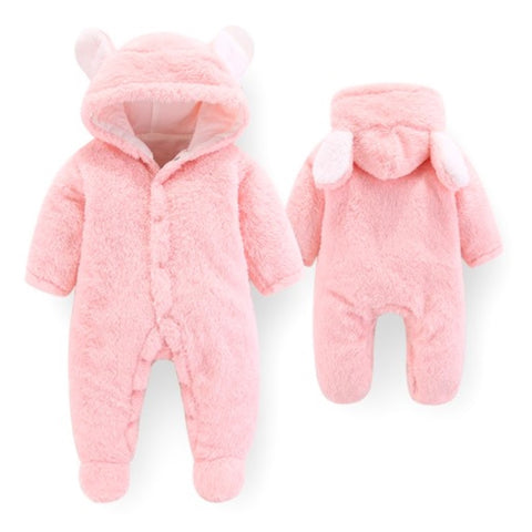 Macacão Pat Pat Fleece 3D Bear Pink