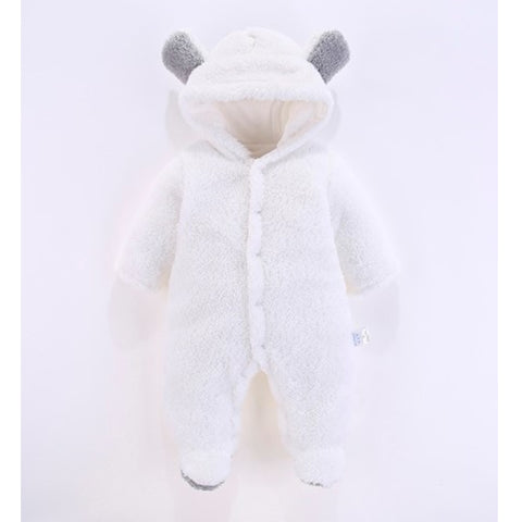 Macacão Pat Pat Fleece 3D Bear White