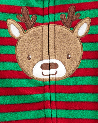 Macacão Carter's Holiday Fleece Striped Rena