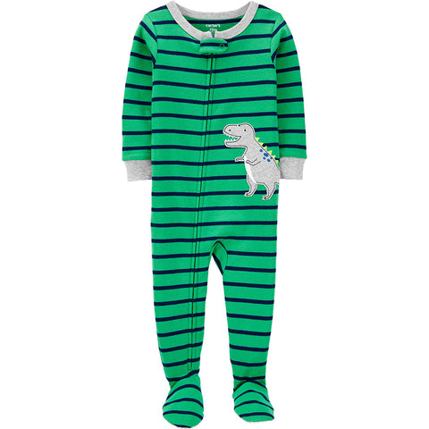 Macacão Carter's Pjs Footie Striped Dino