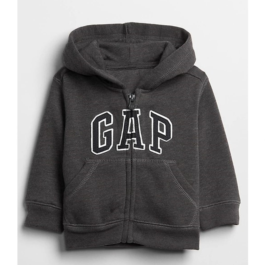 Moletom Gap Infantil Com Capuz Zip Black