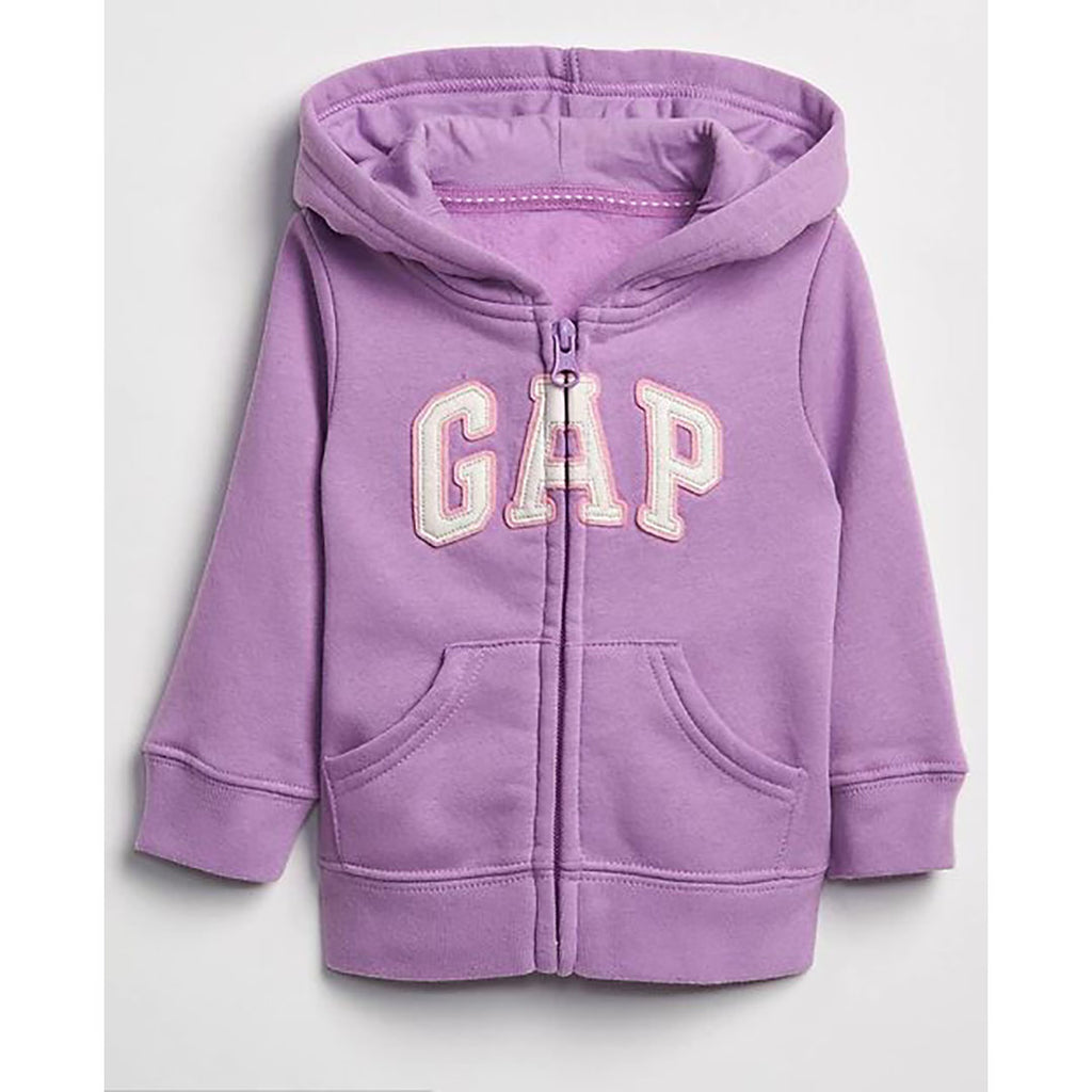 Moletom Gap Infantil Com Capuz Zip Purple