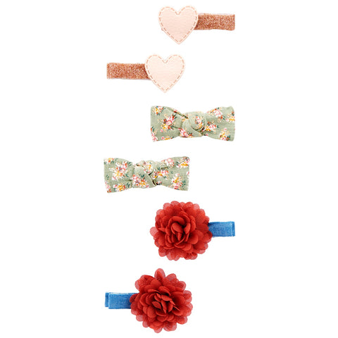 Presilhas Carter's 6 Unidades Hearts|Tie|Flowers