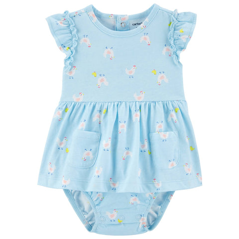 Vestido Carter's Sunsuit Chicken Blue