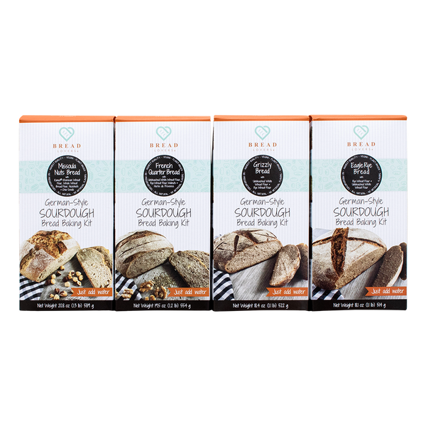 4- Variety Pack - Bestsellers Bread Baking Kits - Breadlovers LLC