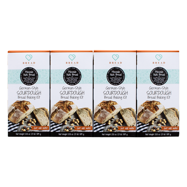 4- Variety Pack - Missoula Nuts Bread Baking Kits - Breadlovers LLC