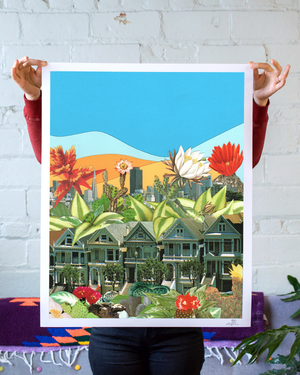 Flowering San Francisco Art Print