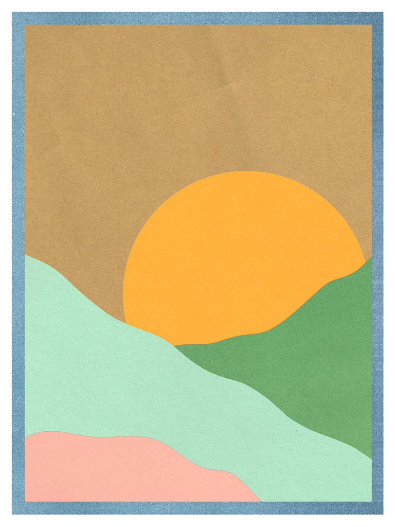 Sunrise Landscape Art Print